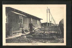 AK Sprottau, Kriegsgefangene, Gärtnerei, Allied POW Camp