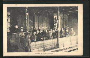 AK Sprottau, Kriegsgefangene, Orchester im Theater, Allied POW Camp