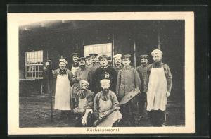 AK Sprottau, Kriegsgefangene, Küchenpersonal, Allied POW Camp