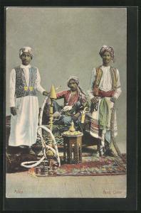 AK Aden, Arab Chief, Araber raucht die Wasserpfeife