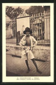 AK Saigon, Zeitungsjunge vom Stamm der Nho