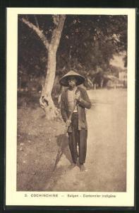 AK Saigon, Cantonnier indigène, Vietnamesischer Bauer