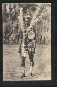 AK Diola, afrikanischer Volkstyp in Tracht