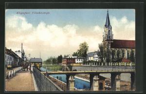 AK Klagenfurt, Villacherstrasse mit Brücke