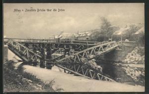 AK Mitau, Zerstörte Brücke über die Drixe