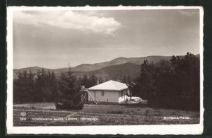AK Schipka Pass, Blick auf Haus von Anhöhe mit Landschaft