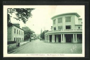 AK Soustons, Rue Principale et le Theatre