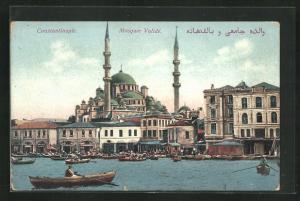 AK Constantinople, Mosquee Valide vom Wasser aus gesehen mit Booten