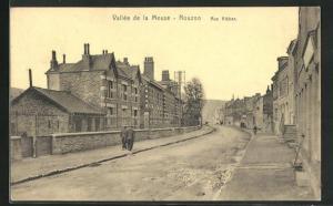AK Nouzon, Rue Kleber, Blick auf Häuserzeilen