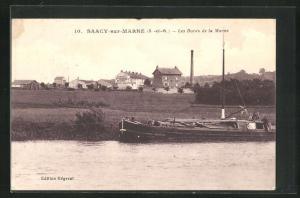 AK Saacy-sur-Marne, Les Bords de la Marne