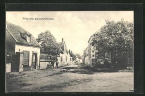 AK Prouvais, Bismarckstrasse mit Häuserfassaden