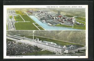 AK Detroit, MI, Ford Motor Co., Fordson Plant, Lincoln Motor Co.
