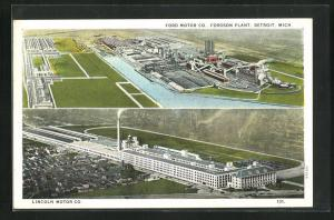 AK Detroit, MI, Ford Motor Co., Fordson Plant, Lincoln Motor Co., Fliegeraufnahme