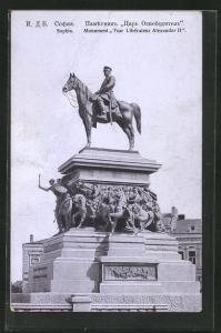 AK Sophia, Monument Tsar Liberateur Alexander II, Reiterdenkmal