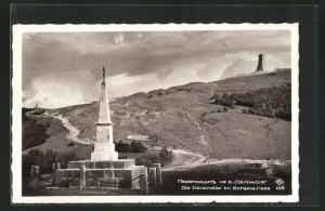 AK Schipka-Pass, Die Denkmäler mit Landschaft