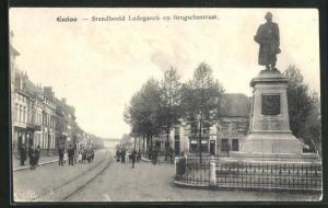 AK Eecloo, Standbeeld Ledeganck en Brugschestraat