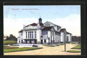 AK Klagenfurt, Jubiläums-Stadt-Theater mit Parkanlage