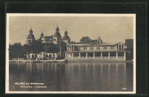 AK Velden am Wörthersee, Schloss und Kursaal vom Wasser aus