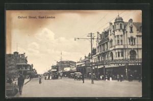 AK East-London, Oxford Street mit Doppeldecker