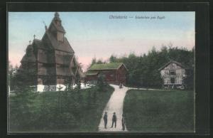 AK Oslo, Slawkirken paa Bygdö, grosse Holzkirche