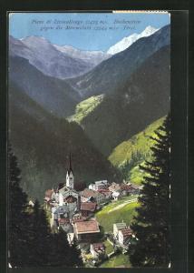 AK Buchenstein, Ortsansicht in den Bergen