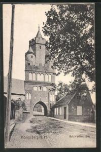 AK Königsberg / Chojna, Strassenpartie am Schwedter Tor