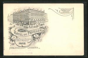 Lithographie Paris, Hotel du Pavillon, Rue de l'Echiquier