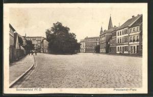 AK Sommerfeld / Lubsko, Partie am Potsdamer Platz