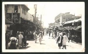 AK Karachi, Strassenleben mit Bazar