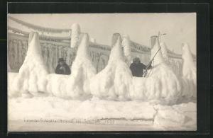AK Schilksee, Schützen hinter einer Torpedo-Schiessstandbrücke aus Eis 1922