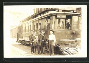 Foto-AK Washington D.C., Strassenbahn mit Schaffnern