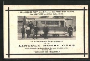 AK Lincoln, Horse Cars, Einstellung der Pferdebahn