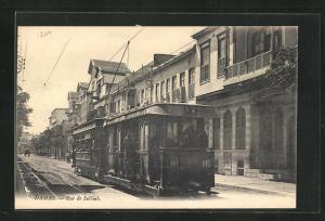 AK Damas, Rue de Salhieh, Strassenbahn