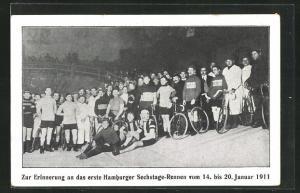 AK Hamburg, Zur Erinnerung an das erste Hamburger Sechstage-Rennen 1911, Radsport