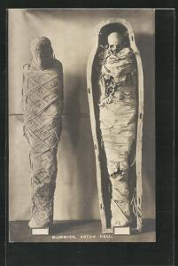 Foto-AK Aston Hall, Mummies, Mumien