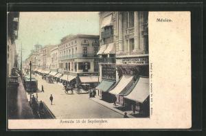 AK Mexico, Avenida 16 de Septiembre et Tramway