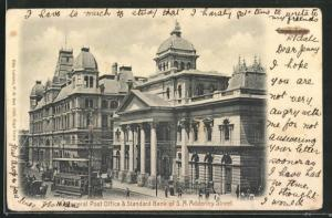AK Cape Town, General Post Office & Standard Bank of S. A. Adderley Street