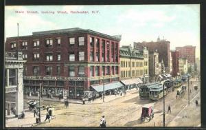 Künstler-AK Rochester, NY, Main Street looking West