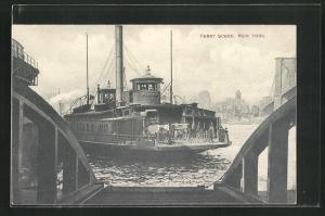 AK New York, NY, Ferry Scene