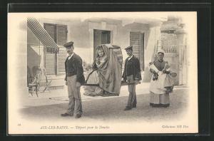 AK Aix-les-Bains, Depart pour la Douche