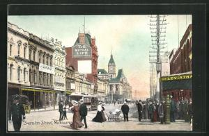 AK Melbourne, View of Swanston Street