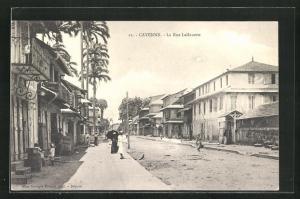 AK Cayenne, La Rue Lallouette