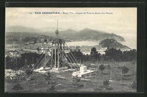 AK San Sebastian, Monte Ulia, Legada del Tranvia Aéreo a los Pinares