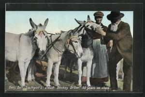 AK Southport, Maultier, Betty Ball, oldest Donkey Driver, 50 years on shore