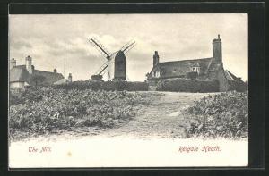 AK Reigate Heath, The Mill, Windmühle und Haus