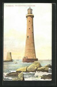 AK Plymouth, The Eddystone Lighthouse, Leuchtturm