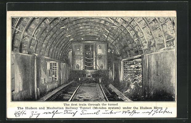 AK New York, the first Train through the tunnel 0