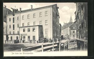 AK Leipzig, Im Hofe der Barfussmühle