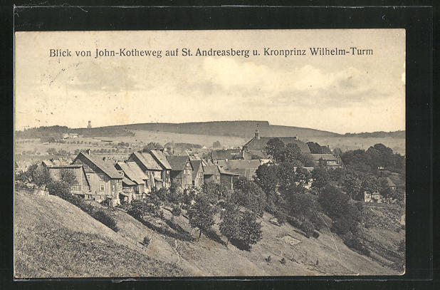 AK St. Andreasberg, Blick von John-Kotheweg auf Kronprinz Wilhelm-Turm 0
