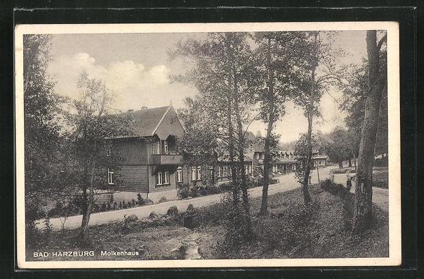 AK Bad Harzburg, Gasthaus Molkenhaus mit Blick auf Landstrassen 0